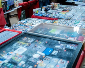 Video games for sale at flea market