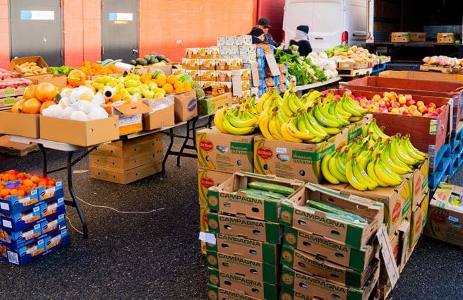 Produce & vegetables for sale at flea market