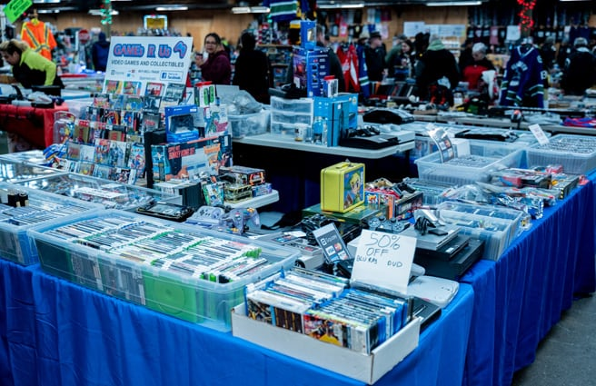 Video games & gifts for sale at Abbotsford Flea Market