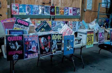 Records, CD's and music for sale at the flea market