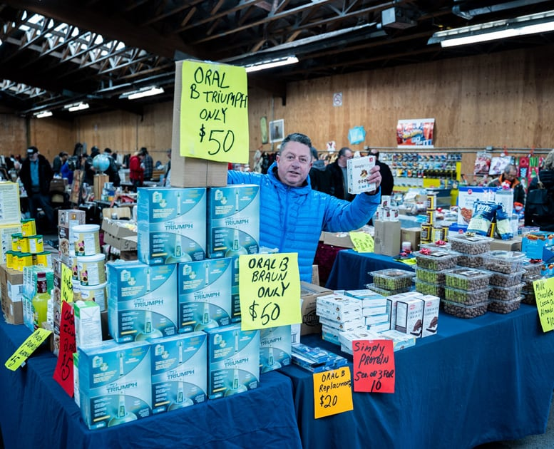 Great prices from vendors at Abbotsford Flea Market