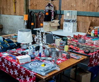 Abbotsford Flea Market vendor table